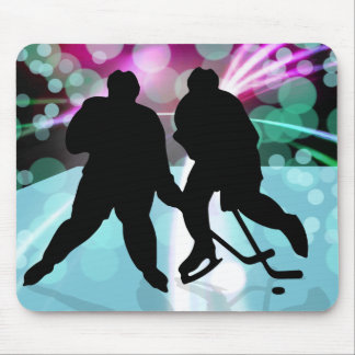 Hockey Duo Face Off Mouse Pad