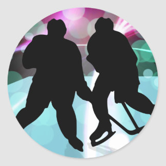 Hockey Duo Face Off Sticker