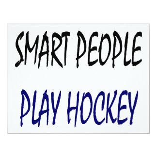 """Hockey elegante del juego de la gente invitación 4.25"""" x 5.5"""""""