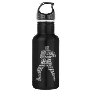 Hockey Enforcer Stainless Steel Water Bottle