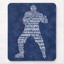 Hockey Enforcer Typography Mousemat Mouse Pad
