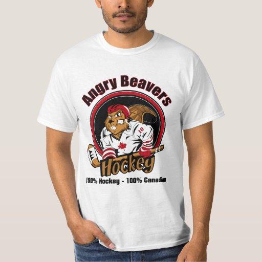 Hockey enojado de los castores - camiseta - sea un
