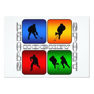 """Hockey espectacular invitación 5"""" x 7"""""""