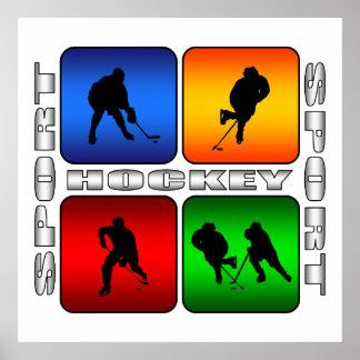 Hockey espectacular póster