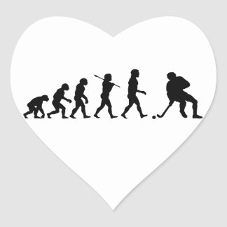 Hockey Evolution Fun Sports Heart Sticker