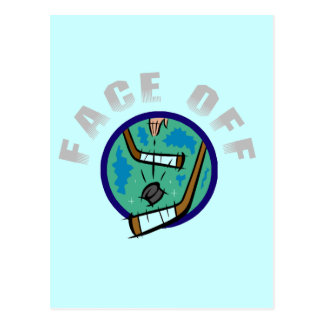 Hockey Face Off T-shirts and Gifts Postcard