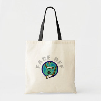 Hockey Face Off T-shirts and Gifts Tote Bag