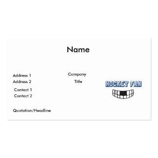 hockey fan missing teeth funny sports design business card