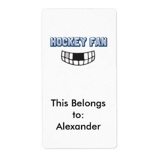 hockey fan missing teeth funny sports design label