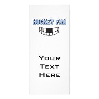 hockey fan missing teeth funny sports design rack card