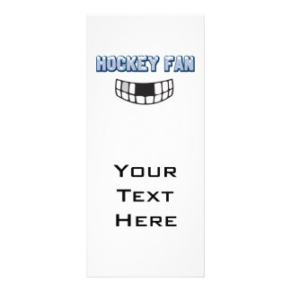 hockey fan missing teeth funny sports design full color rack card