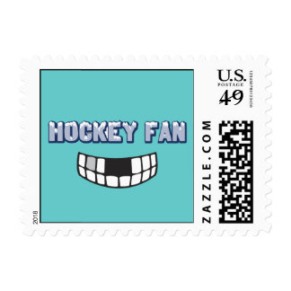 Hockey Fan Postage Stamp (SMALL)