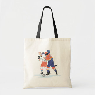Hockey Fight Budget Tote Bag