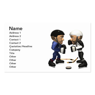 Hockey Fight Business Card Template