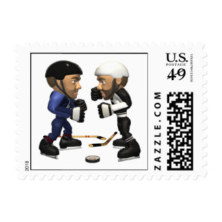 Hockey Fight Stamps