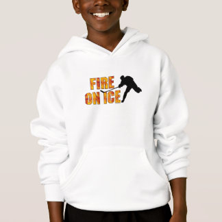 Hockey Fire On Ice Hoodie
