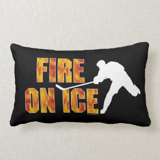 Hockey Fire On Ice Lumbar Pillow