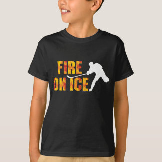 Hockey Fire On Ice T-Shirt