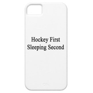 Hockey First Sleeping Second iPhone 5 Cases
