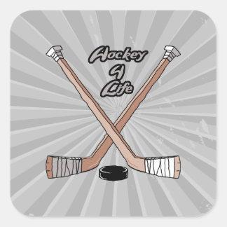 hockey for life square sticker