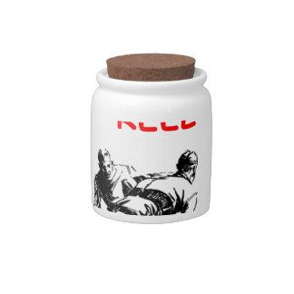 hockey tarro de cerámica para dulces