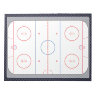 Hockey Game Companion Carbon Fiber Style Notepad