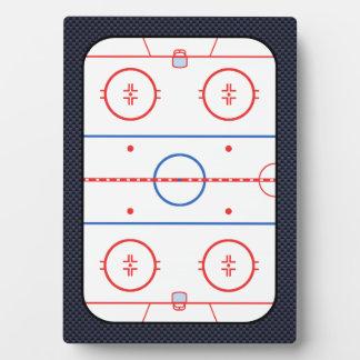 Hockey Game Companion Carbon Fiber Style Plaque