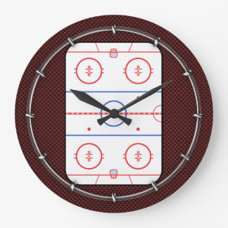 Hockey Game Companion Rink Diagram Large Clock
