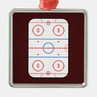 Hockey Game Companion Rink Diagram Metal Ornament