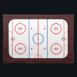 "Hockey Game Companion Rink Diagram Placemat<br><div class=""desc"">A fine sporty custom hockey rink diagram design on a custom gift you can also customize to make it as unique as you are. 
