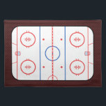 """Hockey Game Companion Rink Diagram Placemat<br><div class=""""desc"""">A fine sporty custom hockey rink diagram design on a custom gift you can also customize to make it as unique as you are.                     Introducing</div>"""