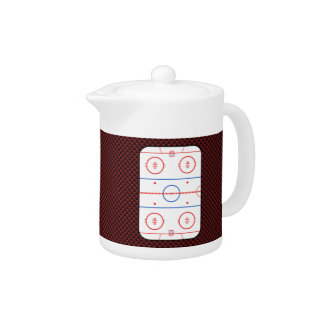 Hockey Game Companion Rink Diagram Teapot