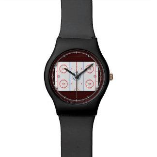 Hockey Game Companion Rink Diagram Wristwatch