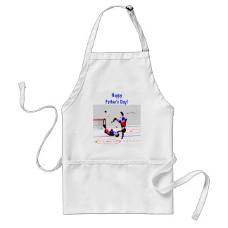 Hockey Game Father's Day Adult Apron
