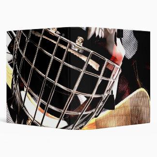 Hockey Gear Grunge Style 3 Ring Binder