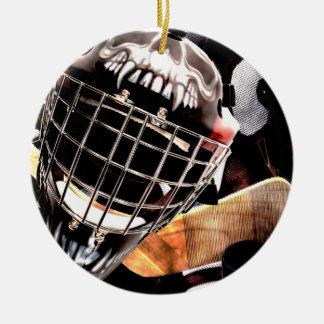 Hockey Gear Grunge Style Christmas Ornament