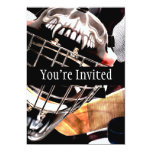 Hockey Gear Grunge Style Custom Invites