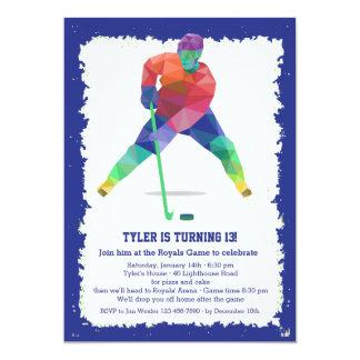 "Hockey Geometrics Invitation 5"" X 7"" Invitation Card"