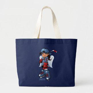 Hockey Girl Kenny K Large Tote Bag
