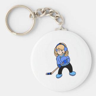 Hockey Girl Keychain