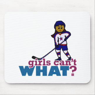 Hockey Girl Mouse Pad