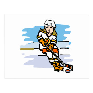 Hockey girl Orange Postcard