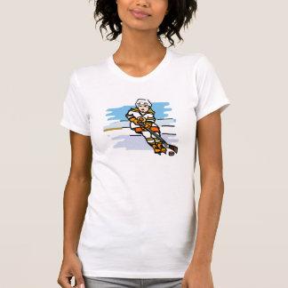 Hockey girl Orange T-Shirt