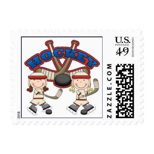 Hockey Girls Postage Stamps