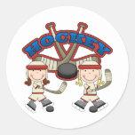 Hockey Girls Round Sticker