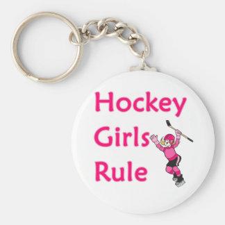 Hockey Girls Rule Keychain