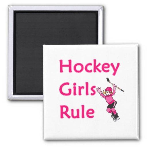 Hockey Girls Rule Fridge Magnet