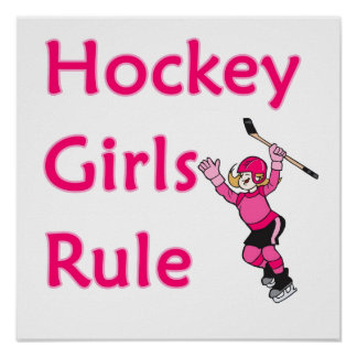 Hockey Girls Rule Poster