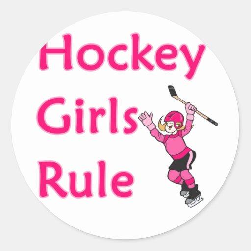 Hockey Girls Rule Sticker