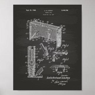 Hockey Goal 1948 Patent Art Chalkboard Poster